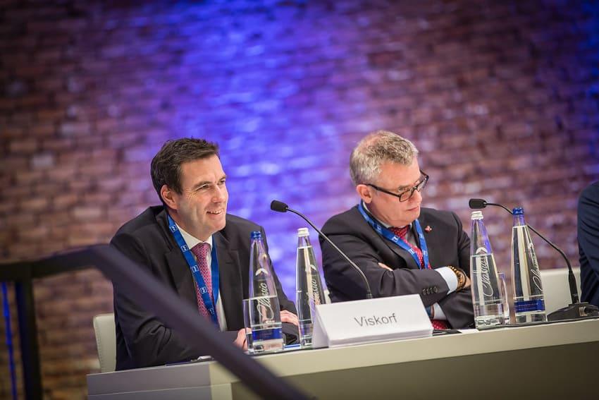 Stephan Viskorf (l.) und Volker Kaiser diskutierten Spannungsfeld von Legalität und Moral im Steuerrecht.