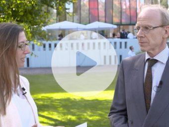 P+P-Partner Andreas Rodin im Gespräch mit Janine Heidenfelder (Bundesverband Deutscher Kapitalbeteiligungsgesellschaften).