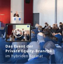 Das Event der Private Equity Branche. Im hybriden Format.